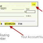 how to read the numbers on a check