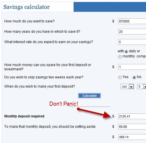 how much money do you need to save