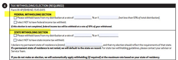 ira distribution form